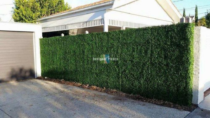 Fence With Artificial Plants3