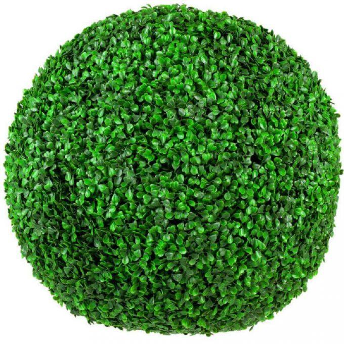 fake boxwood ball topiary