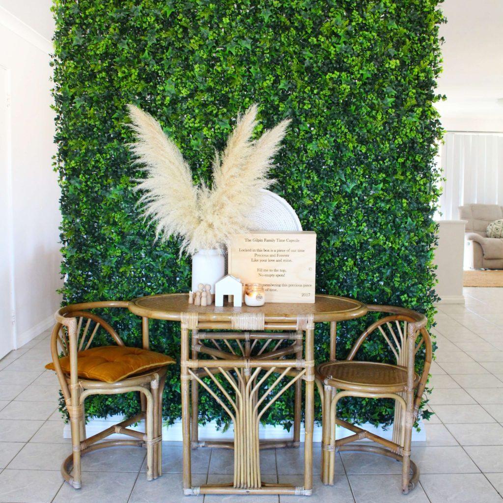indoor artificial green wall