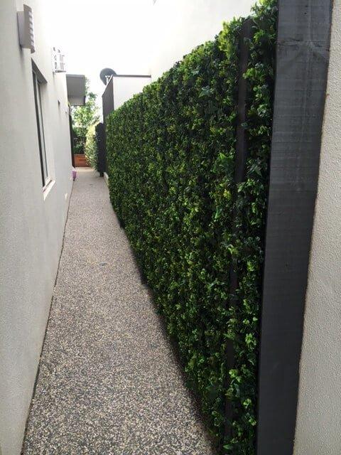 artificial spring sensation fake hedge walk way