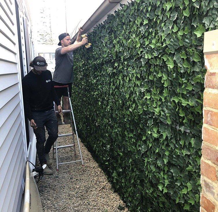 green wall installation
