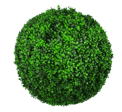 Artificial Plants-Large Green Leaf Buxus Faulkner Topiary Ball UV Resistant 48cm
