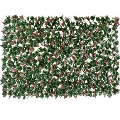 Artificial Plant_Photinia Hedge Extendable Trellis Screen UV Resistant 2 Meter by 1 Meter