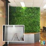 Artificial vertical garden wall white oasis - Designer Plants