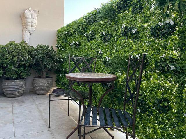 Artificial White Oasis Vertical Garden Panels