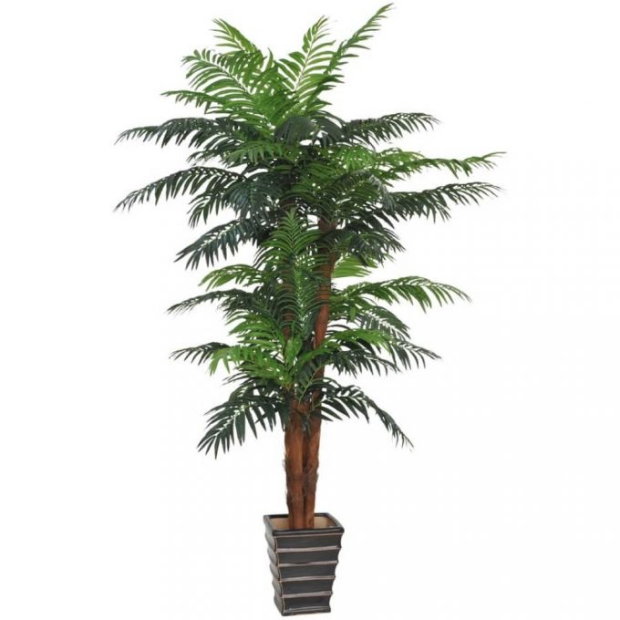 tall fake palm tree