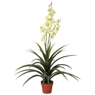 flowering artificial yucca plant