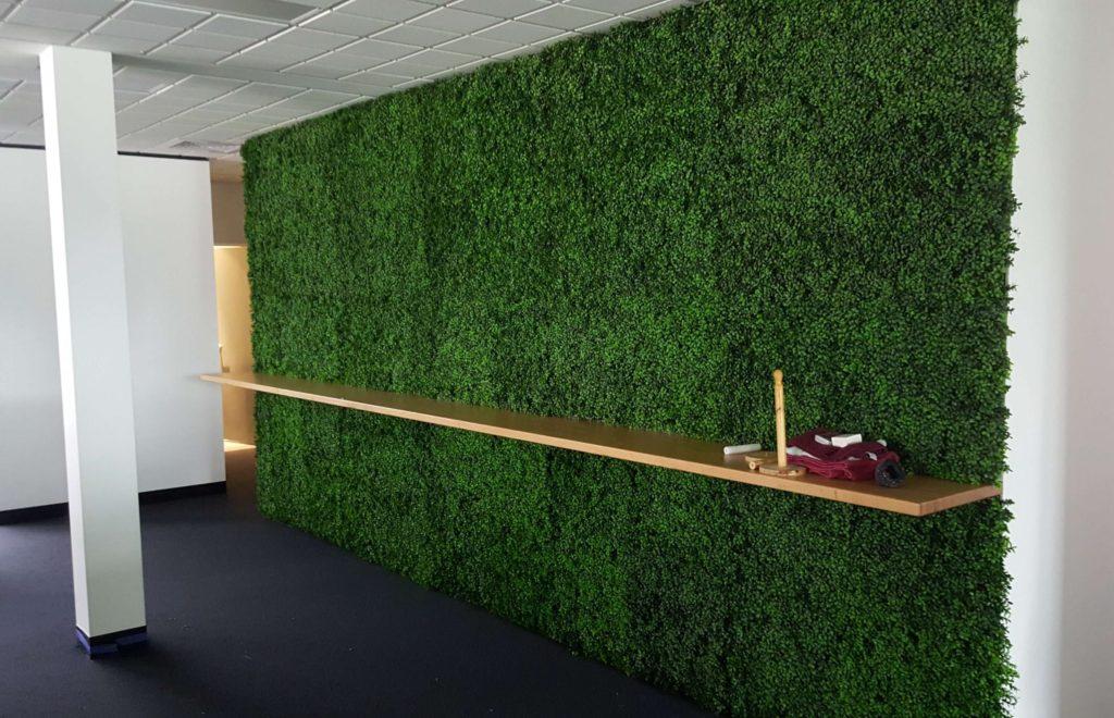 Room divider green wall