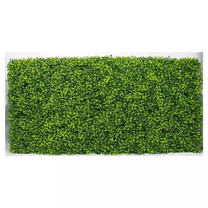 Artificial Plant-Mixed Boxwood Hedge UV Resistant 100cm Long x 50cm High