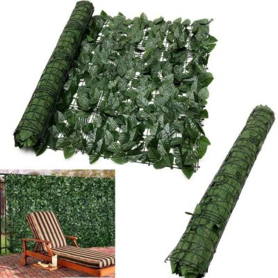 faux peach leaf ivy roll