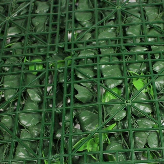 Artificial Plant-4 x Ivy Leaf Screen Green Wall Panel UV Resistant 50cm x 50cm