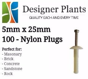 Installation plugs for green walls