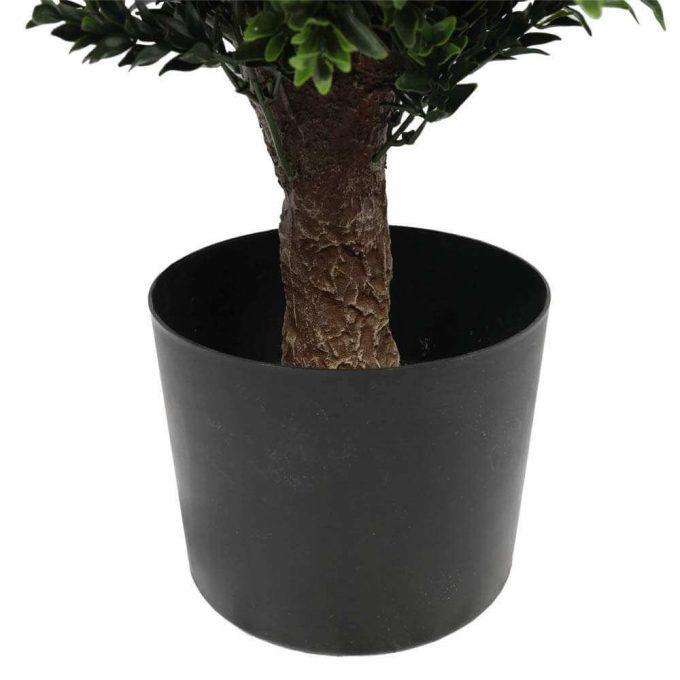artificial topiary shrub pot