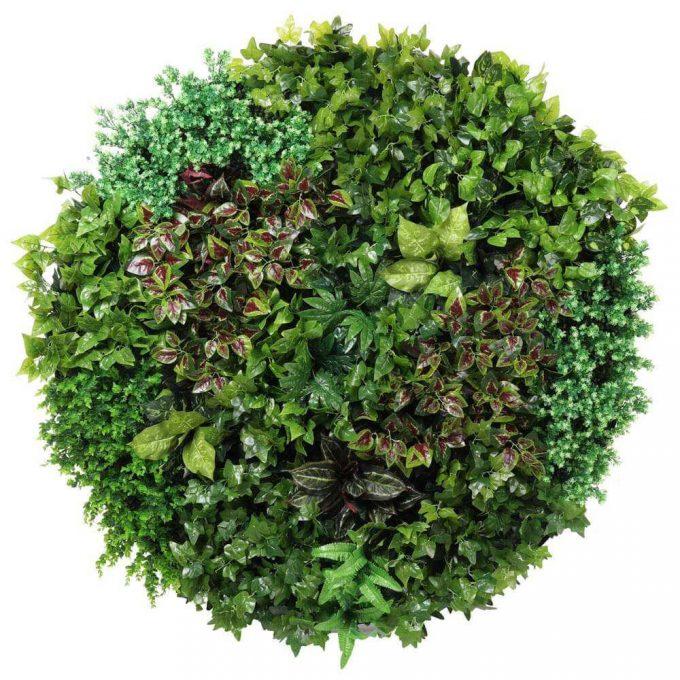 artificial green wall black frame disc