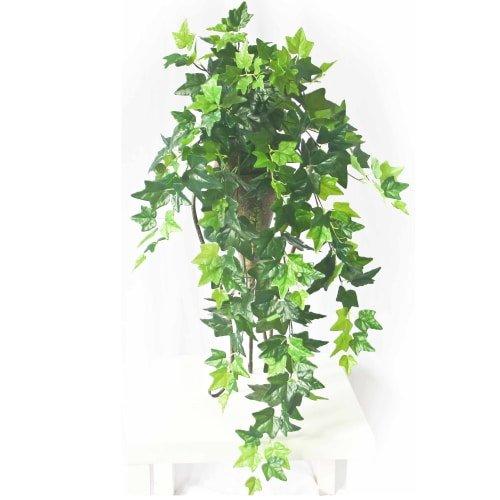Fake Hanging Green Ivy Bush 80cm