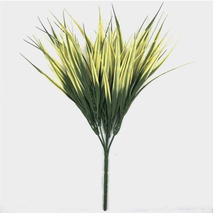 fake yellow grass plant