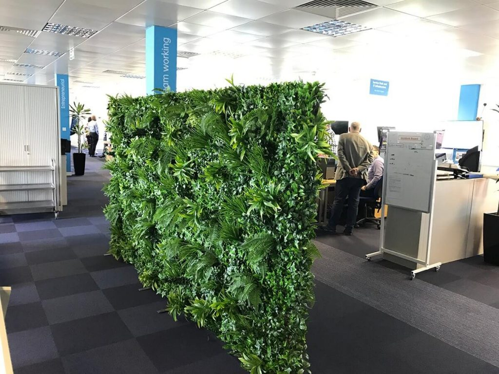 portable green wall office partition screens