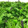 artificial green walls panel with lavender