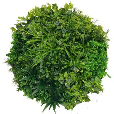 faux green wall disc green