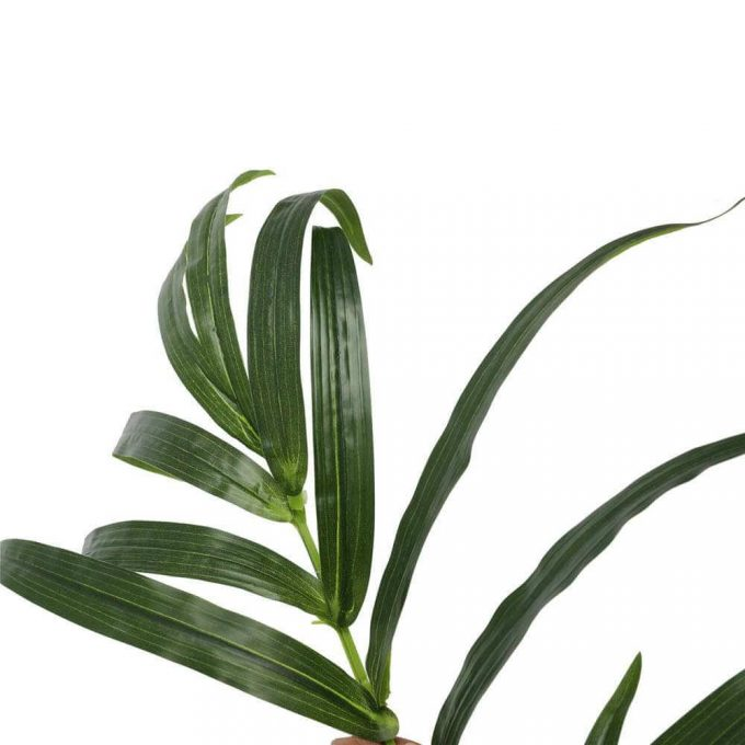 leaves - trunk - potted fake kentia palm tree