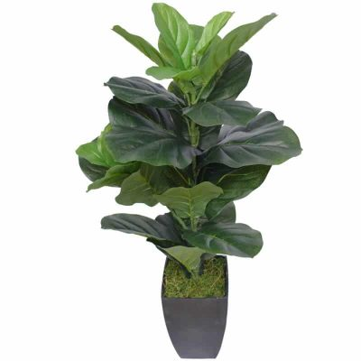 High quality potted artificial fiddle fig plant (1)