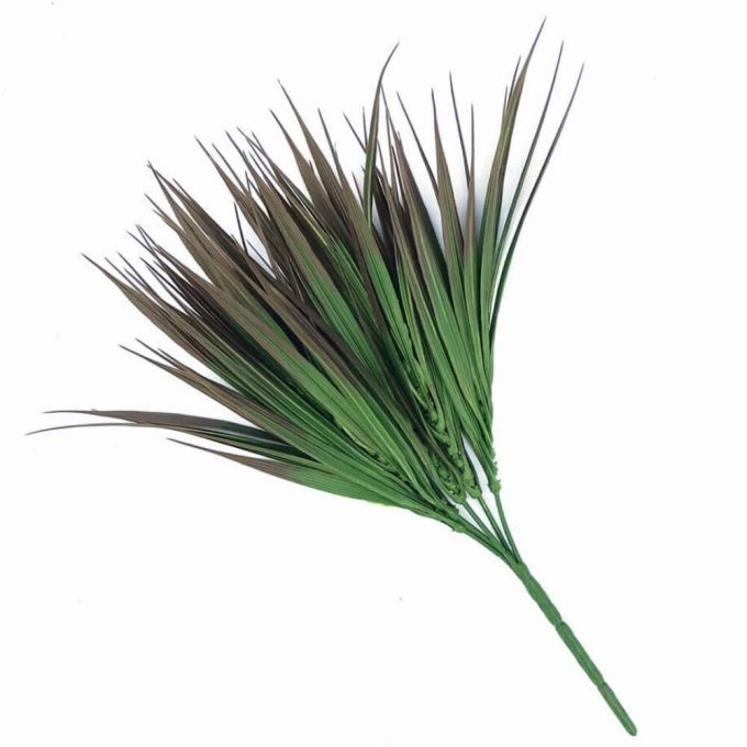 Artificial Brown Tipped Grass Plant