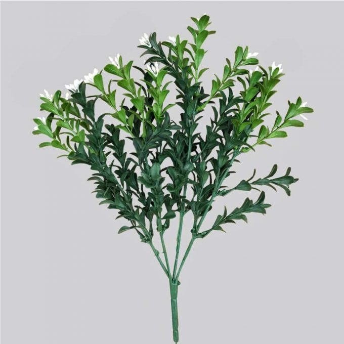Artificial Flowering Boxwood Stem