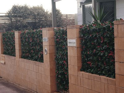 UV treated artificial plants and green wall
