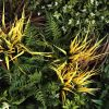 artificial fake grasses for wall panel