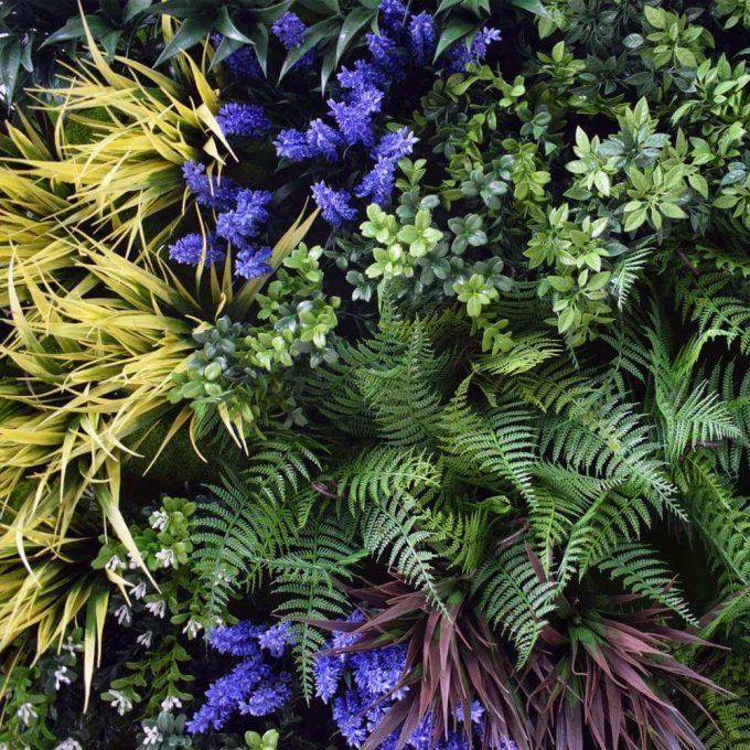 UV Lavender Fields Green Wall Disc (Black) 100cm