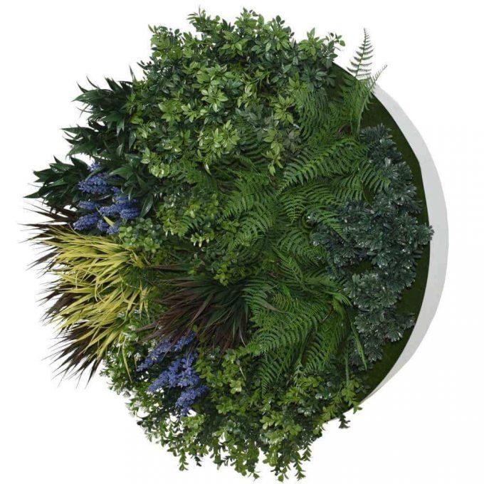 UV Lavender Fields Green Wall Disc (White) 80cm (1)