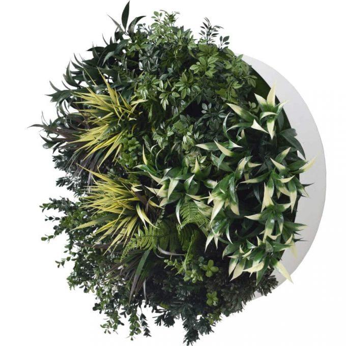 faux green wall disc