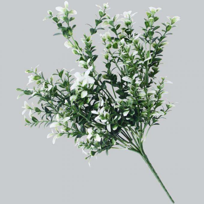 DLVS-102 32cm Artificial Money Leaf White Gree Wall Plant details 1