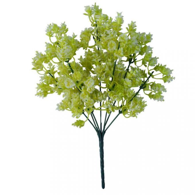 Artificial White Snowball Wall Plant