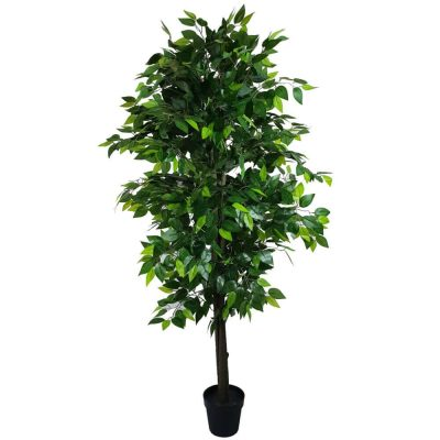 180cm fake ficus tree with mixed green leaves (1)