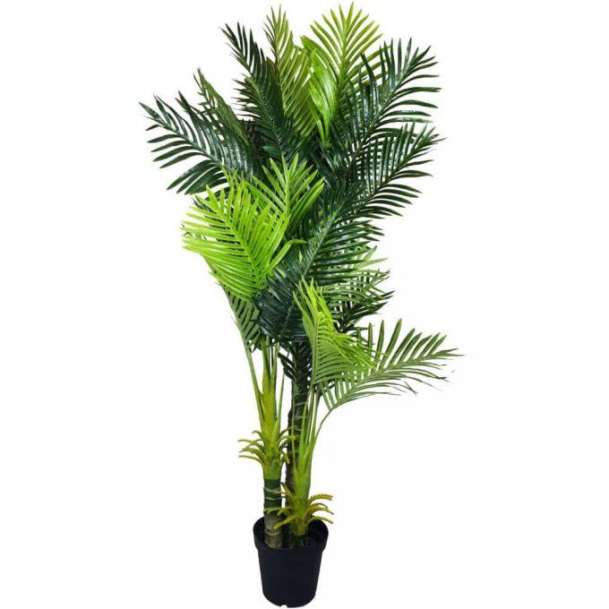 artificial hawaii palm with multiple trunks