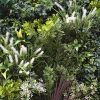 Premium realistic green wall panel with mixed foliage