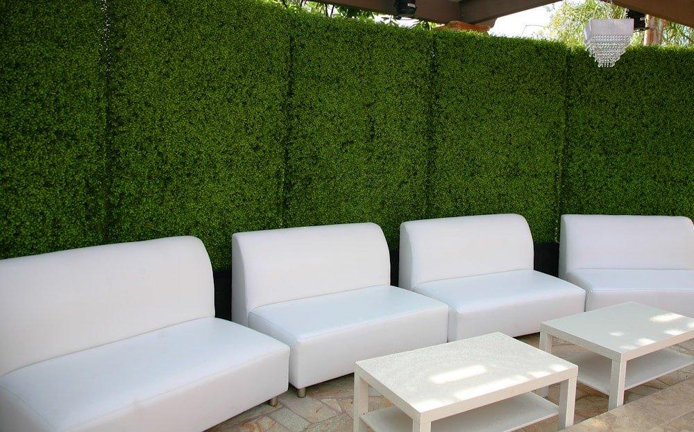 Artificial boxwood hedge panel tiles