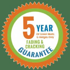 5 year guarantee badge