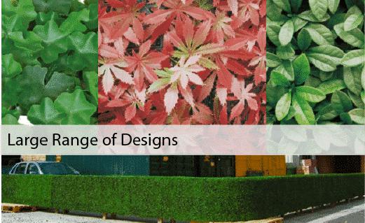 Artificial green walls - various design