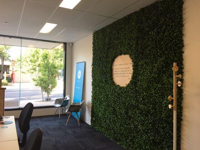 Foyer green wall