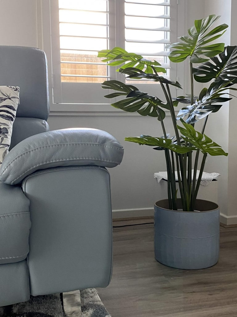 fake split philodendron artificial tree