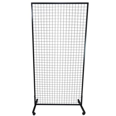 portable flower wall stand - black metal green wall stand