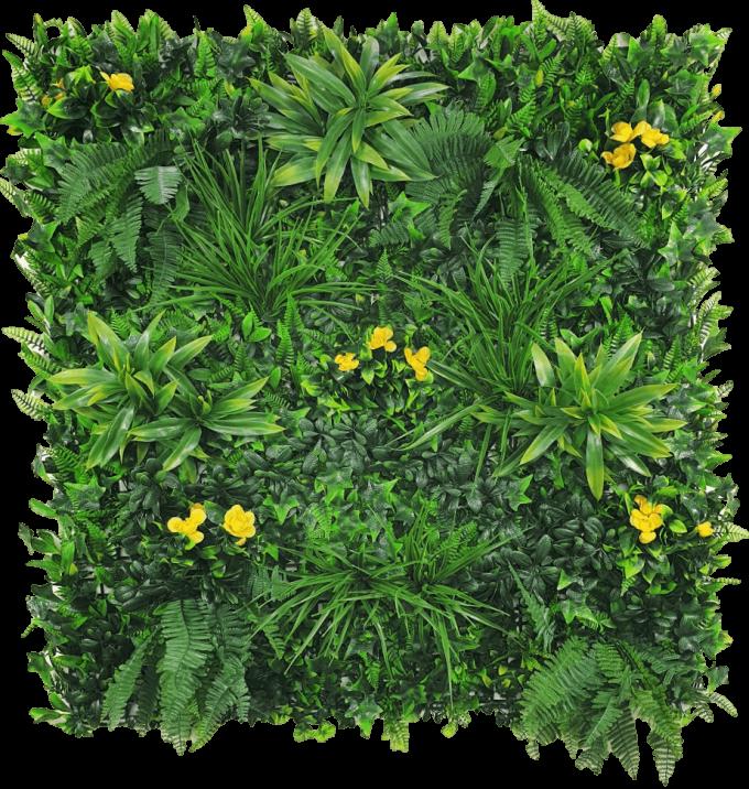 yellow flowering artificial vertical garden panel