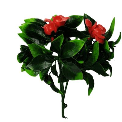 flowering red artificial rose stem