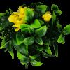 flowering yellow fake rose stem