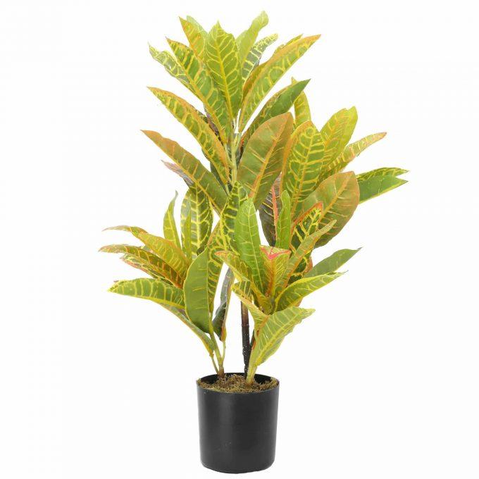 artificial potted Codiaeum variegatum
