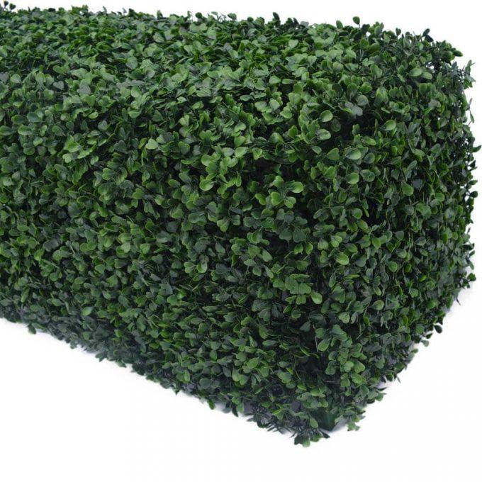 small artificial boxwood hedge foliage