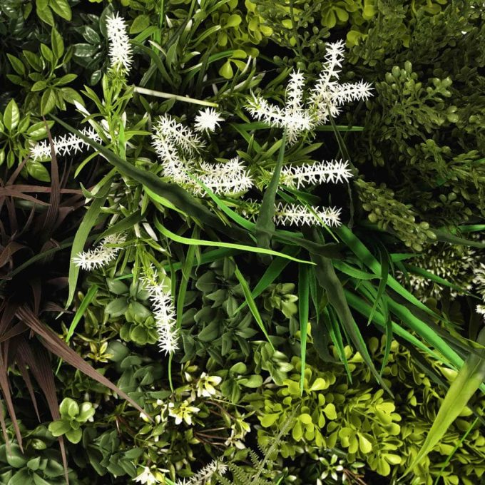 fake uv resistant artificial green wall stems