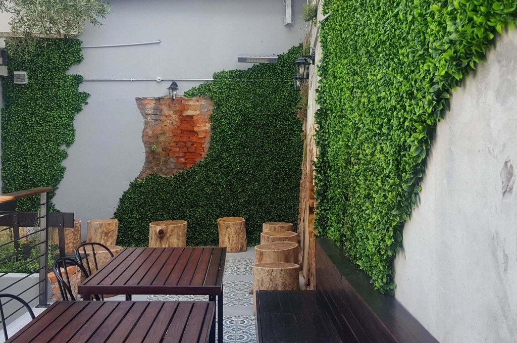artificial fake jasmine hedge panel